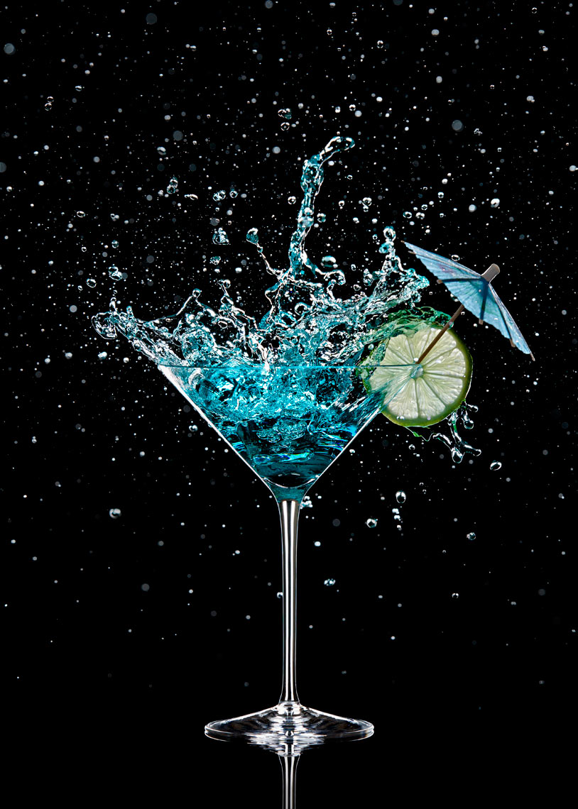 Ice in Blue Cocktail